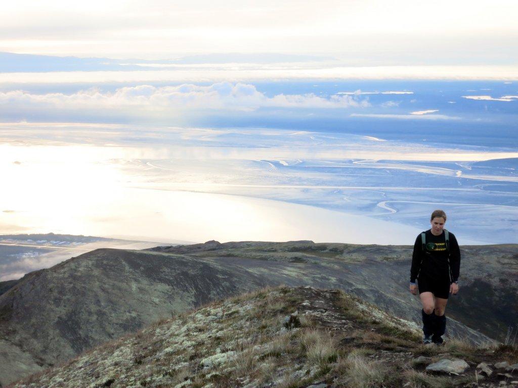 Nearing Mount Eklutna Summit
