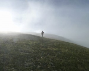 L H heading down Pioneer Ridge. (J. Allely photo)