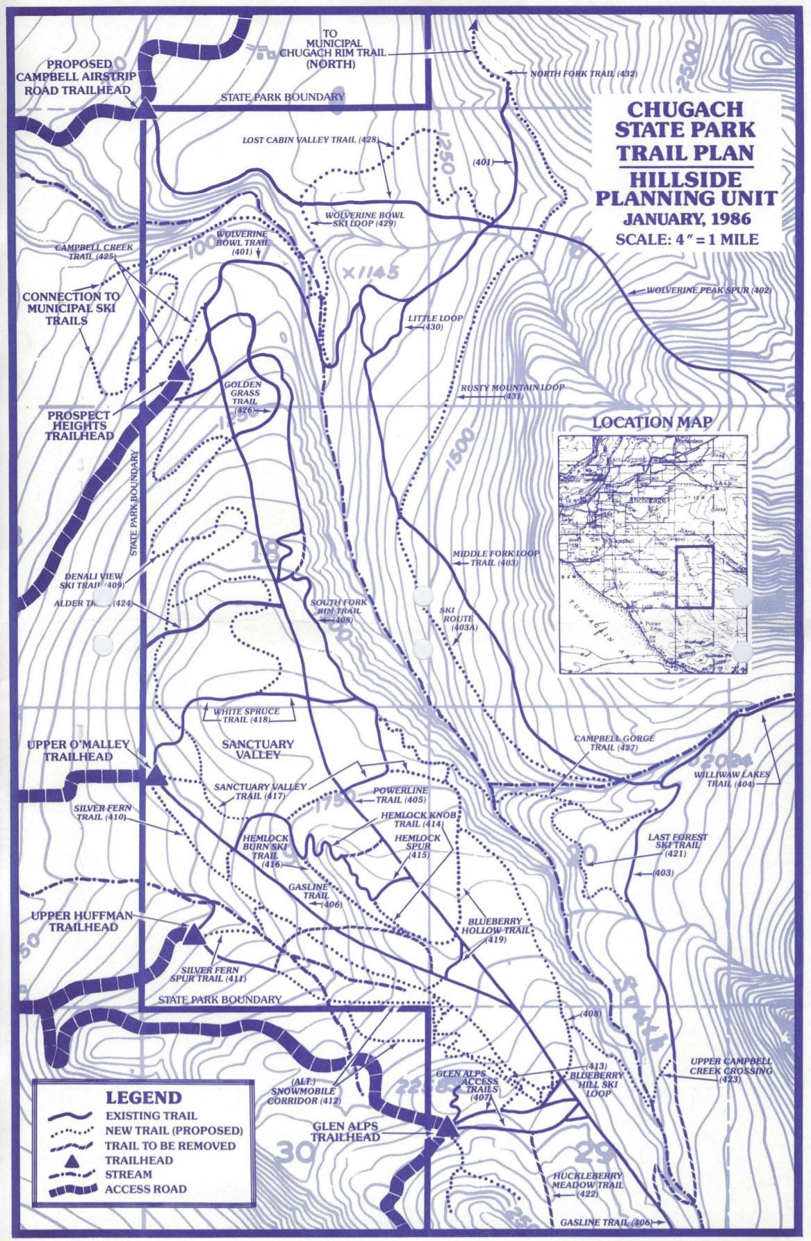 Chugach State Park Trail Plan